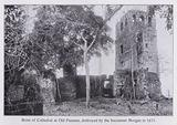 Ruins of Cathedral at Old Panama, destroyed by the buccaneer Morgan in 1671