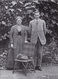Beatrix Potter and William Heelis on their wedding day