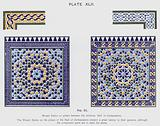 Mosaic Dados on pillars between the windows, Hall of Ambassadors