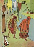 Morgiana leads the Cobbler to Cassim's House