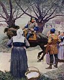 Illustration for The Black Arrow by Robert Louis Stevenson