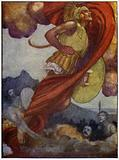 Mars, like a thunder-cloud, swept upwards through the sky to Olympus