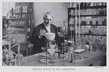 Thomas Edison in his laboratory
