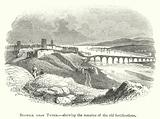 Berwick upon Tweed, shewing the remains of the old fortifications
