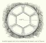 Bouclier ayant servi a la construction du tunnel sous la Tamise