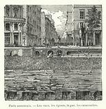 Paris souterrain, Les caux, les egouts, le gaz, les catacombes