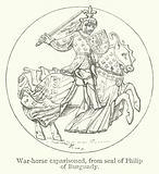 War-horse caparisoned