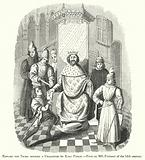 Edward the Third sending a Challenge to King Philip