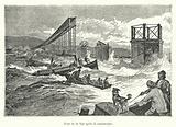 Pont de la Tay apres la catastrophe