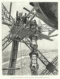 Au sommet de la tour Eiffel, La descente des ouvriers
