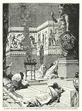 Roman Women praying in the Temple of Mars after the Battle of Cannae