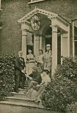 A Dickens Portrait Group, in the porch of Gad's Hill Place