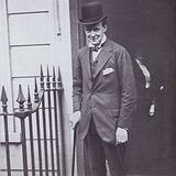 Winston Churchill in 1908, at No 10 Downing Street