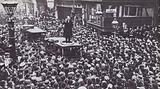 Winston Churchill electioneering in Manchester in 1908