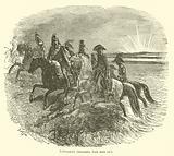 Napoleon crossing the Red Sea