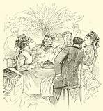 19th century cafe scene