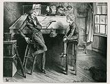 Uriah Heep and David Copperfield in Mr Wickfield's Office