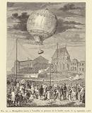 Montgolfiere lancee a Versailles en presence de la famille royale, le 19 septembre 1783