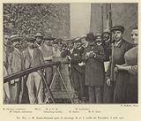 M Santos-Dumont apres le sauvetage du no 5, ruelle du Trocadero, 8 aout 1901
