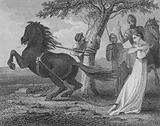 The execution of Brunhilda of Austrasia by Chlothar II, 613