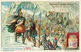 Hannibal leading his army over the Alps, 218 BC
