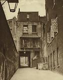Strand Lane and the entrance to the Roman Bath