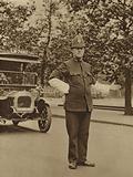 A London policeman on duty at Hyde Park Corner