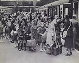 British children being evacuated from cities to the countryside in anticipation of the German bombing campaign, World War 2, 1940