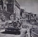 British Army tanks participating in the conquest of Sicily, World War 2, 1943