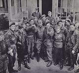 Meeting of British and Russian soldiers at Wismar, near Lubeck, Germany, World War 2, 2 May 1945
