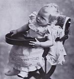 Prince Edward, the future King Edward VIII, as a baby, 1895