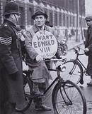 A supporter of King Edward VIII during the abdication crisis, 1936