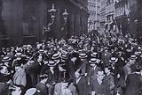Panic on the London Stock Exchange after Austria's declaration of war on Serbia, July 1914