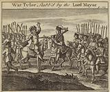 Wat Tyler stabbed by William Walworth, Lord Mayor of London, Peasants' Revolt, 1381