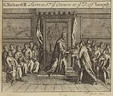 King Richard II surrendering the crown of England to Henry Bolingbroke, Duke of Lancaster, 1399