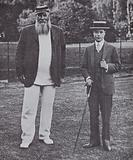 The Prince of Wales with Gloucestershire and England cricketer W G Grace, 1911