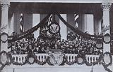 Franklin D Roosevelt making his inaugural address as President of the United States, 1933