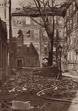 Pump Court, Temple, London, after a bombing raid during the Blitz, World War II