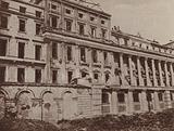 Bomb damage to Carlton House Terrace, London, during the Blitz, World War II