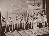 A naval themed performance at the Windmill Theatre in London's West End during the Blitz, World War II