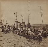 The German fleet scuttled in Scapa Flow, Orkney, 1919