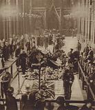 The coffin of the Unknown Warrior lying in state inside Westminster Abbey, 1920