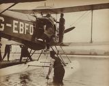 British aviator Alan Cobham setting out on his flight to Australia and back, 1926