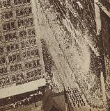 Ticker tape parade in New York greeting American aviator Charles Lindbergh on his return to the United States after completing the first solo transatlantic flight, 1927