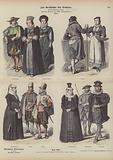 Swiss costumes, mid 17th Century