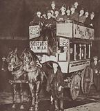 The last London horse bus making its final journey from London Bridge to Moorgate, 1911