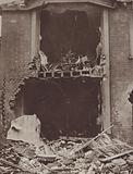House in Scarborough, Yorkshire, damaged by German naval bombardment, World War I, 1914