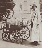 British milk-woman on her rounds, World War I, 1916