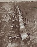 British bomber squadron drawn up at St Omer, France, World War I, 1918