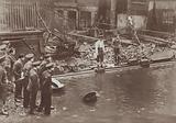 Part of the Thames Embankment in London collapsed due to flooding, 1928